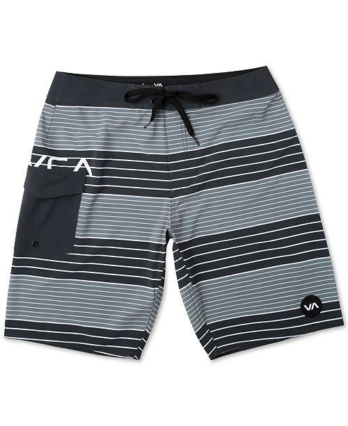 """RVCA Men's Uncivil Stripe 20"""" Board Shorts"""