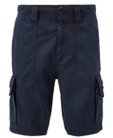BOSS Men's Tapered-Fit Cotton Poplin Shorts
