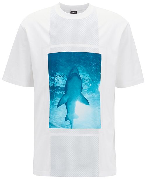 7b168548452 Hugo Boss BOSS Men's Graphic Cotton T-Shirt & Reviews - T-Shirts ...