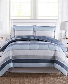 Marino Stripe Reversible 3-Pc. Comforter Mini Sets, Created for Macy's