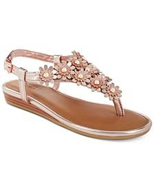 Little & Big Girls Rak Brianna Low-Wedge Flowers Sandals