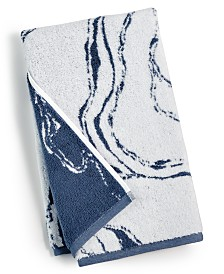 Hotel Collection Marble Turkish Cotton Fashion Hand Towel, Created for Macy's