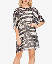 Vince Camuto Dolman-Sleeve Tropical-Print Dress