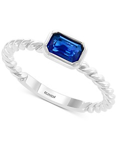 42a6a52103f EFFY® Sapphire Ring (5/8 ct. t.w.) in 14k White Gold