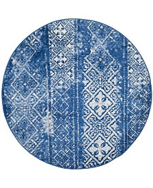 Safavieh Adirondack Silver and Blue 4' x 4' Round Area Rug