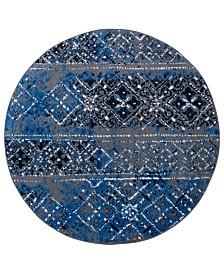 Safavieh Adirondack Silver and Multi 4' x 4' Round Area Rug