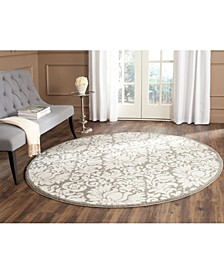 Amherst Dark Gray and Beige 9' x 9' Round Area Rug