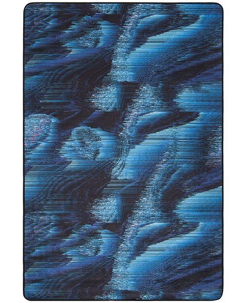 Safavieh Daytona Black and Turquoise 4' x 6' Area Rug