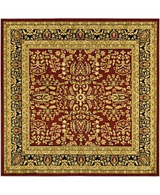 Lyndhurst Red and Black 10' x 10' Square Area Rug