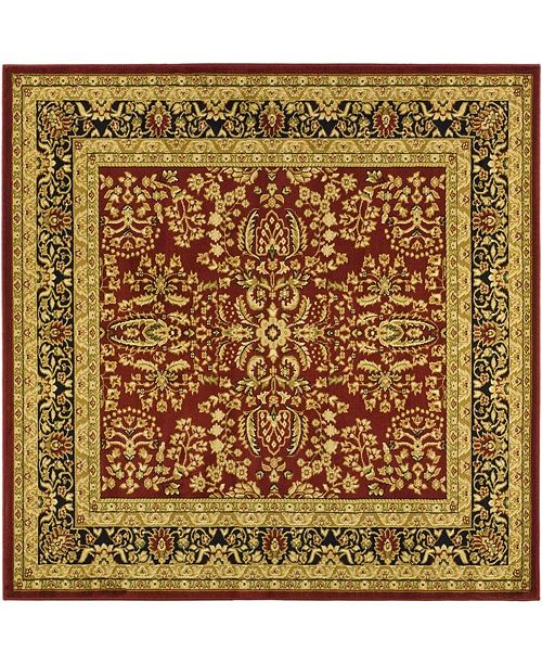 Safavieh Lyndhurst Red and Black 10' x 10' Square Area Rug