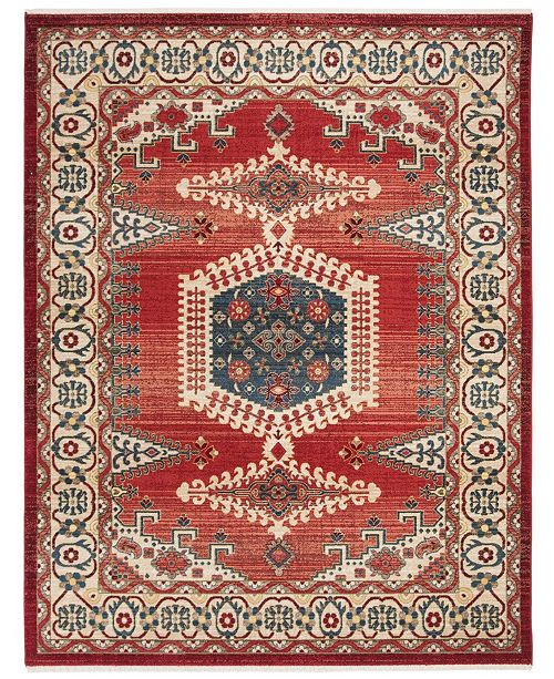 Safavieh Kashan Red and Ivory 9' x 12' Sisal Weave Area Rug