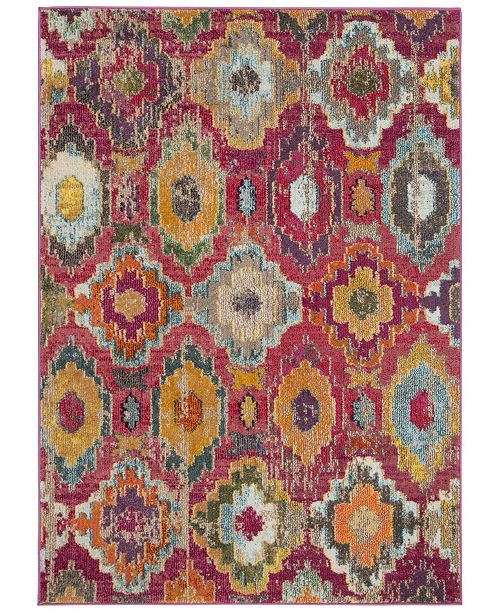 "Safavieh Monaco Red and Blue 5'1"" x 7'7"" Area Rug"