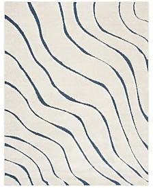 Safavieh Shag Cream and Blue 8' x 10' Area Rug