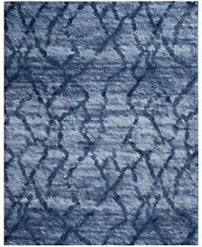 Safavieh Retro Blue and Dark Blue 11' x 15' Area Rug