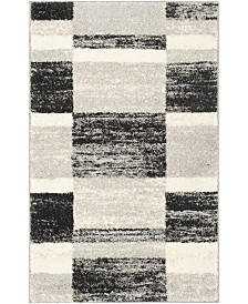 Safavieh Retro Black and Light Gray 3' x 5' Area Rug