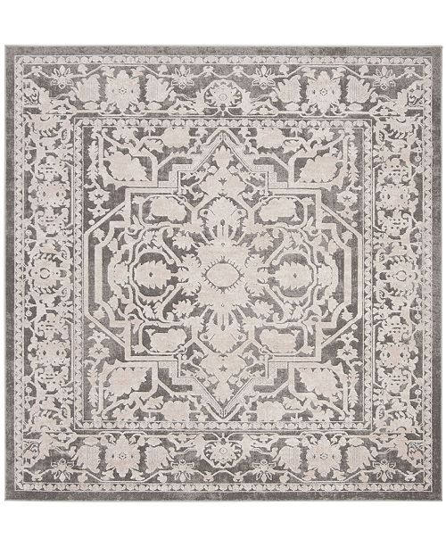 "Safavieh Reflection Dark Gray and Cream 6'7"" x 6'7"" Square Area Rug"