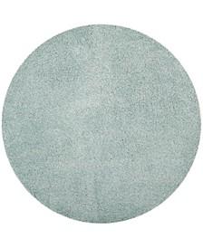 "Laguna Light Blue 6'7"" x 6'7"" Round Area Rug"