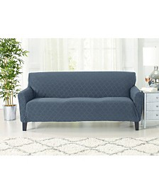 Form Fit Geometric Jacquard Stretch Sofa Slipcover