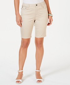 Charter Club Mid-Rise Bermuda Shorts, Created for Macy's