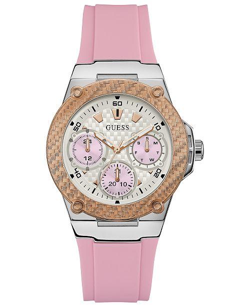 8168a273b6bd6 GUESS Women s Zena Pink Silicone Strap Watch 39mm  GUESS Women s Zena Pink Silicone  Strap Watch ...