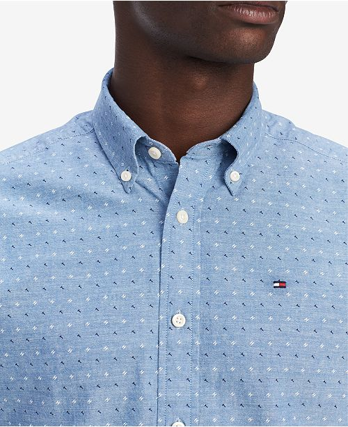 2a52fcf1 Tommy Hilfiger Men's Johnston Geo-Print Shirt, Created for Macy's ...
