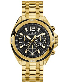 Men's Chronograph Surge Gold-Tone Stainless Steel Bracelet Watch 46.5mm