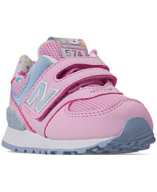 New Balance Toddler Girls' 574 Flower Casual Sneakers from Finish Line