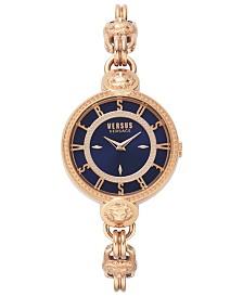 Versus by Versace Women's Les Dock's Rose Gold-Tone Stainless Steel Bracelet Watch 36mm