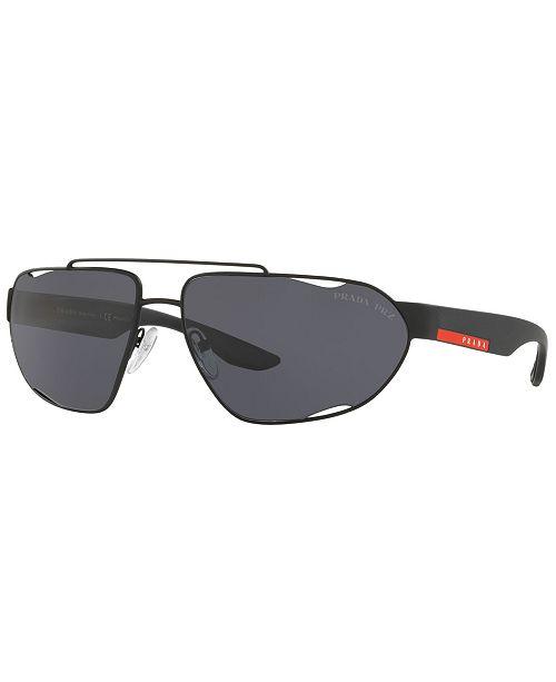 17c11aaf9250 Prada Linea Rossa Polarized Sunglasses, PS 56US 66 & Reviews ...