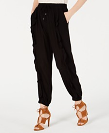 American Rag Juniors' Ruffled Drawstring Pants, Created for Macy's