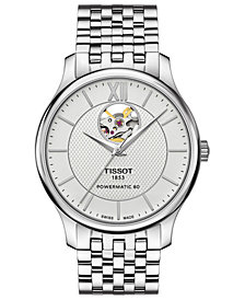 Tissot Men's Swiss Automatic T-Classic Tradition Stainless Steel Bracelet Watch 40mm
