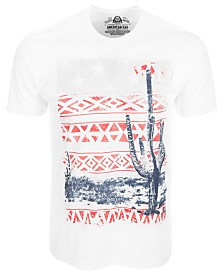 American Rag Men's Southwest Cactus Graphic T-Shirt, Created for Macy's