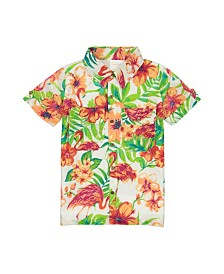 Masala Baby Boys Flamingo Island Shirt