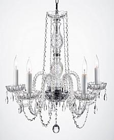 Empress 5-Light Swarovski Crystal Plug-In Chandelier