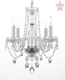 Empress Crystal 4-Light Crystal Chandelier with Crystal Stars
