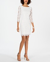 1a0f20b5aa30 Adrianna Papell Long-Sleeve Lace Sheath Dress