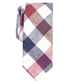 Men's Jarrad Gingham Skinny Linen Tie