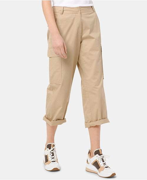 Michael Kors Cotton Cargo Pants, Regular & Petite Sizes