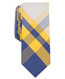 Original Penguin Men's Fitts Plaid Skinny Tie