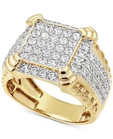 Men's Diamond Cluster Ring (2-1/4 ct. t.w.) in 10k Gold