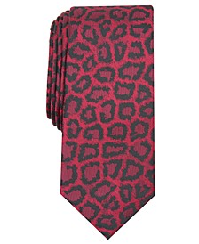 INC Men's Jaguar Skin Skinny Tie, Created for Macy's