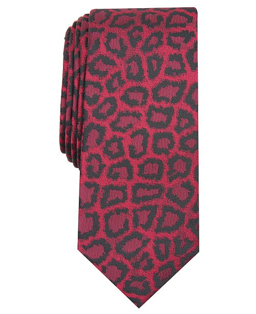 INC International Concepts INC Men's Jaguar Skin Skinny Tie, Created for Macy's