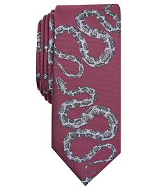 I.N.C. Men's Python Conversational Skinny Tie, Created for Macy's