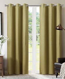 "Sun+Block Foam Back Blackout Grommet Curtain Panel Pair 42""x84"""