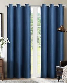 "Sun+Block Foam Back Blackout Grommet Curtain Panel Pair 42""x84"""