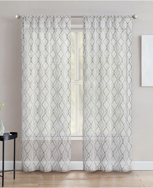 "Silk Home Living Silk+Home Light Filtering Rod Pocket Curtain Panel Pair 40""x84"""
