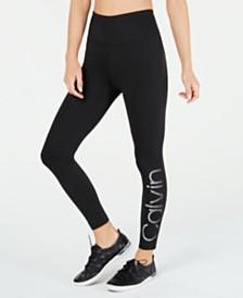 Calvin Klein Performance High-Rise Logo Ankle Leggings
