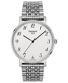 Men's Swiss T-Classic Everytime Stainless Steel Bracelet Watch 38mm