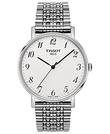 Tissot Men's Swiss T-Classic Everytime Stainless Steel Bracelet Watch 38mm