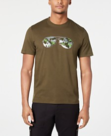 Michael Kors Men's Camouflage Aviator Graphic Concert T-Shirt